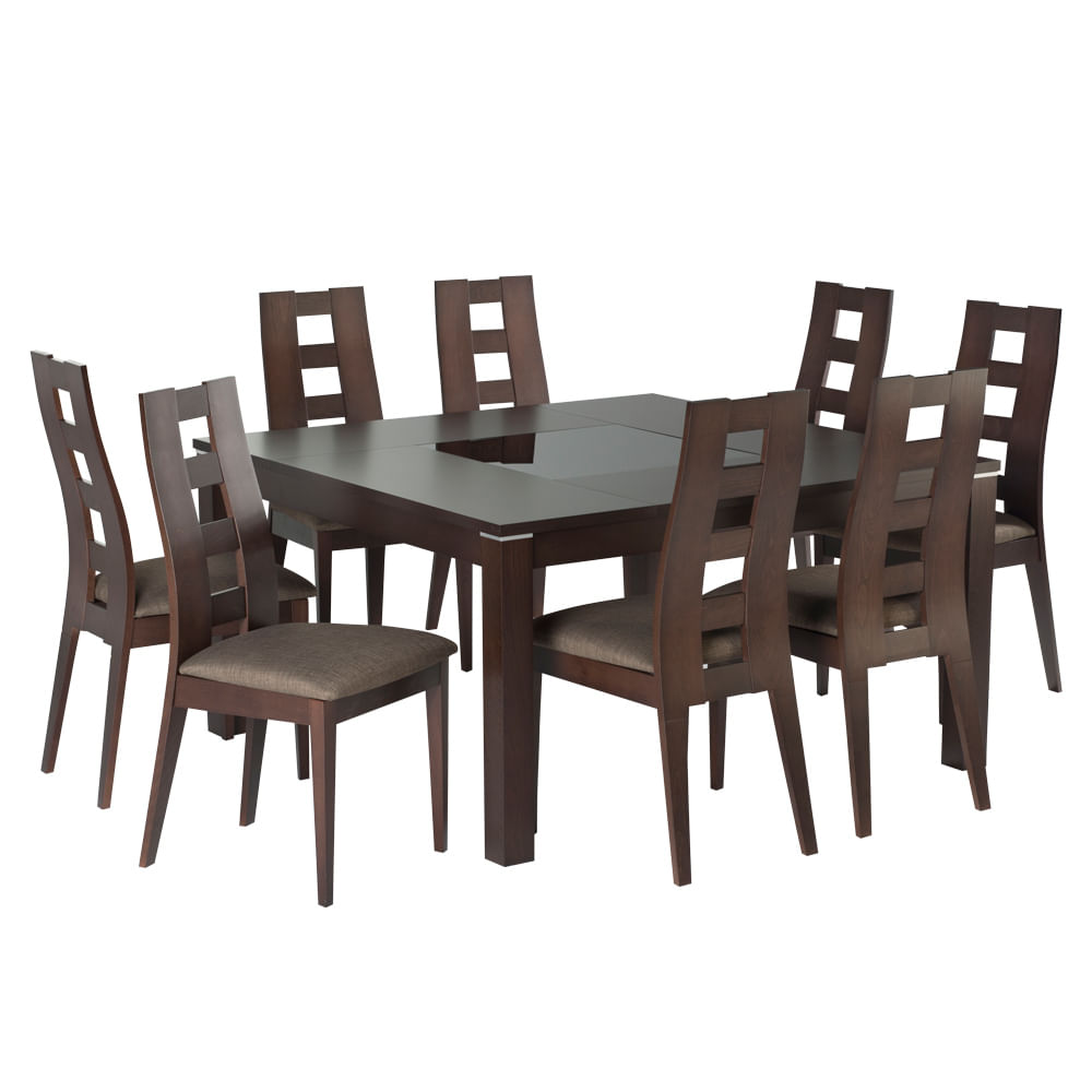 Comedore comedores 8 sillas medidas galer a de fotos for Comedor 8 sillas madera