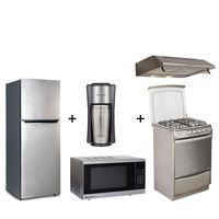 Indurama Pentacombo Cafetera + Microondas + Campana + Cocina + Refrigeradora