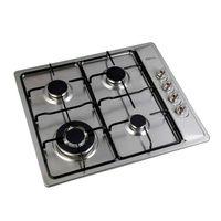 Klimatic-Cocina-encimera-Premio-1-4-quemadores-60-cm-Acero-189389