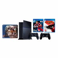 Sony Consola PlayStation 4 Negro + God Of War Bundle PlayStation 4+ 2 Sony Mandos DualShock 4 PS4 Negro + Pro Evolution Soccer 2