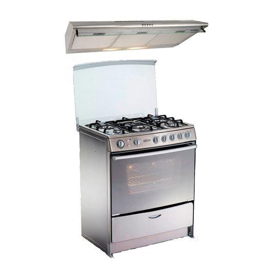 Klimatic-Cocina-Gentile-5-Hornillas-Acero---Campana-CK-901-IXMA-Acero-894843
