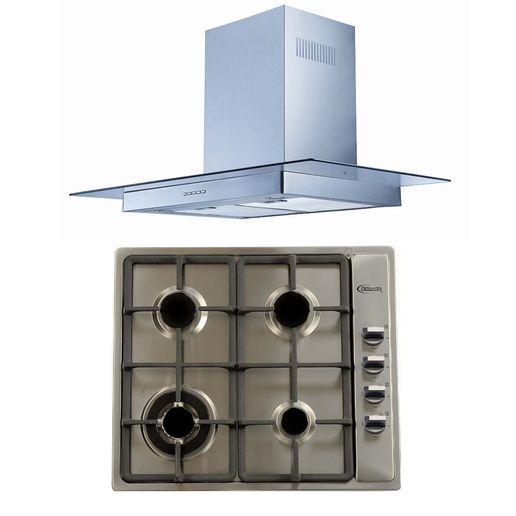 Klimatic-Cocina-Premio-Plus-4-Hornillas-Acero---Campana-Glass-I-Plateado-894849