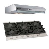 Klimatic-Cocina-Petra-5-Hornillas-Negro---Campana-Vento-90-Acero-894855