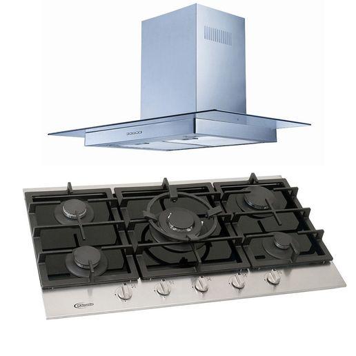 Klimatic-Cocina-Petra-5-Hornillas-Negro---Campana-Glass-I-Plateado-894856