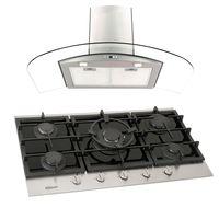 Klimatic-Cocina-Petra-5-Hornillas-Negro---Campana-Curva-P-Acero-894857