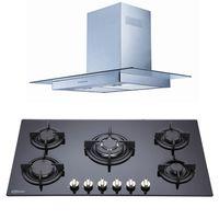 Klimatic-Cocina-Sorbola-5-Hornillas-Negro---Campana-Glass-I-Plateado-894864