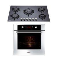 Klimatic-Cocina-Sorbola-5-Hornillas-Negro---Horno-Electrico-Gamma-Plateado-894867