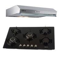 Klimatic-Cocina-Glassy-Plus-5-Hornillas-Negro---Campana-Vento-90-Acero-894869