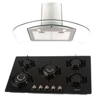 Klimatic-Cocina-Glassy-Plus-5-Hornillas-Negro---Campana-Curva-P-Acero-894871