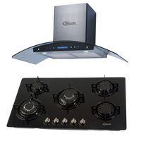 Klimatic-Cocina-Glassy-Plus-5-Hornillas-Negro---Campana-Venezia-I-Plateado-894872