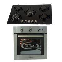 Klimatic-Cocina-Glassy-Plus-5-Hornillas-Negro---Horno-a-Gas-Lubeck-I-Acero-894875