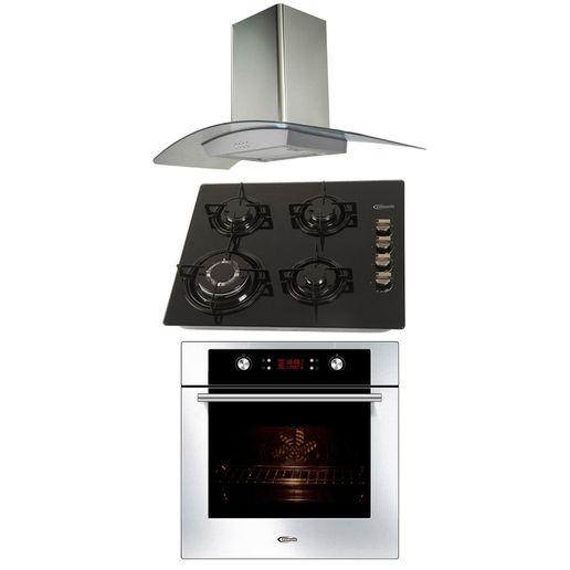 Klimatic-Cocina-Glassy-4-Hornillas-Negro---Campana-Curva-Acero---Horno-Electrico-Gamma-Plateado-894933