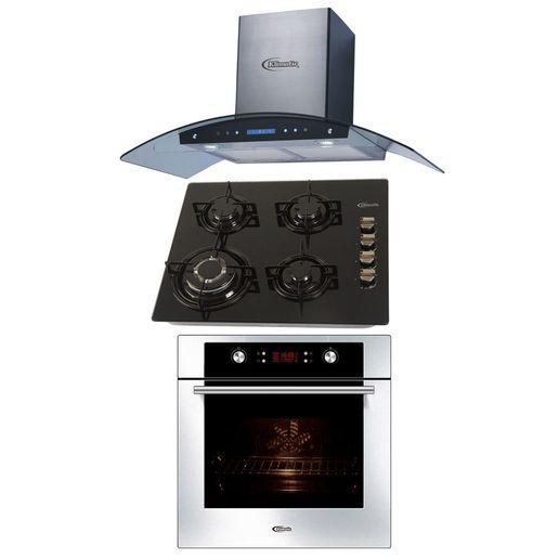 Klimatic-Cocina-Glassy-4-Hornillas-Negro---Campana-Venezia-I-Plateado---Horno-Electrico-Gamma-Plateado-894919