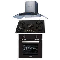 Klimatic-Cocina-Glassy-Plus-5-Hornillas-Negro----Campana-Venezia-I-Plateado---Horno-Electrico-Black-Oven-E-Negro-894911