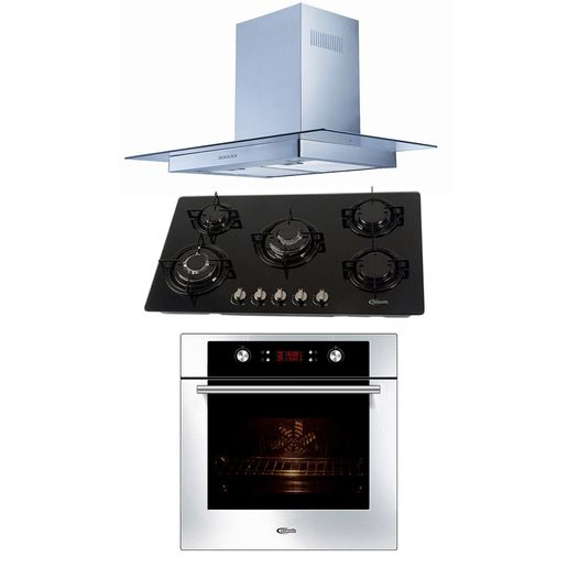 Klimatic-Cocina-Glassy-Plus-5-Hornillas-Negro---Campana-Glass-I-Plateado---Horno-Electrico-Gamma-Plateado-894905