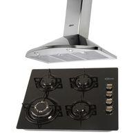 Klimatic-Cocina-Glassy-4-Hornillas-Negro---Campana-Danna-N-Acero-894885