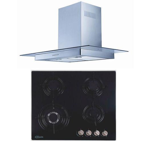 Klimatic-Cocina-Durabile-4-Hornillas-Negro---Campana-Glass-I-Plateado-894878