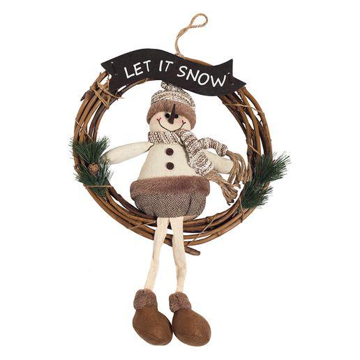 Adorno-Puerta-Snowman-30cm-Dorado-786778_1