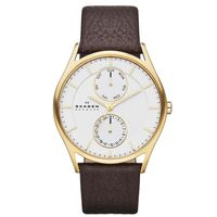 Skagen-Reloj-SKW6066-Hombre-Dorado-Marron-986506