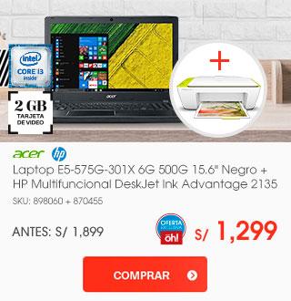 Combo Laptop + Multifuncional