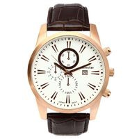 Aerostar-Reloj-26133-Hombre-Oro-rosa-Marron