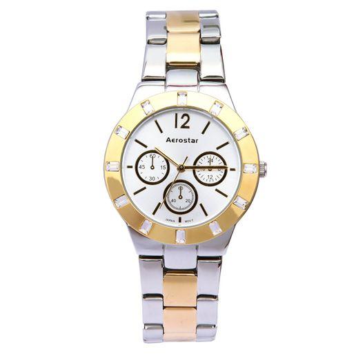 Aerostar-Reloj-65248-Mujer-Plateado-Dorado