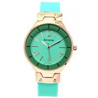 Aerostar-Reloj-66336-Mujer-Dorado-Verde