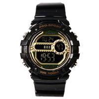 Aerostar-Reloj-921113-Unisex-Negro-Dorado