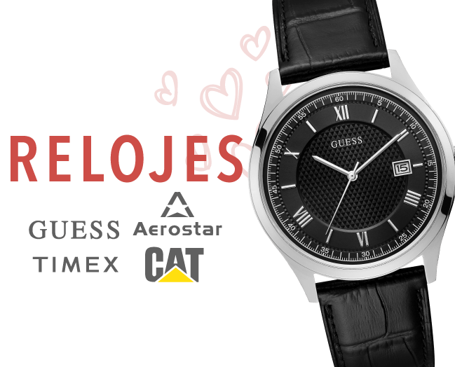 Relojes para hombre (Guess, Timex y CAT)