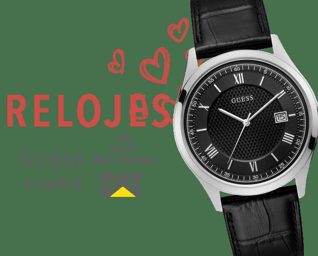 Relojes para hombre (Guess, Timex y CAT)