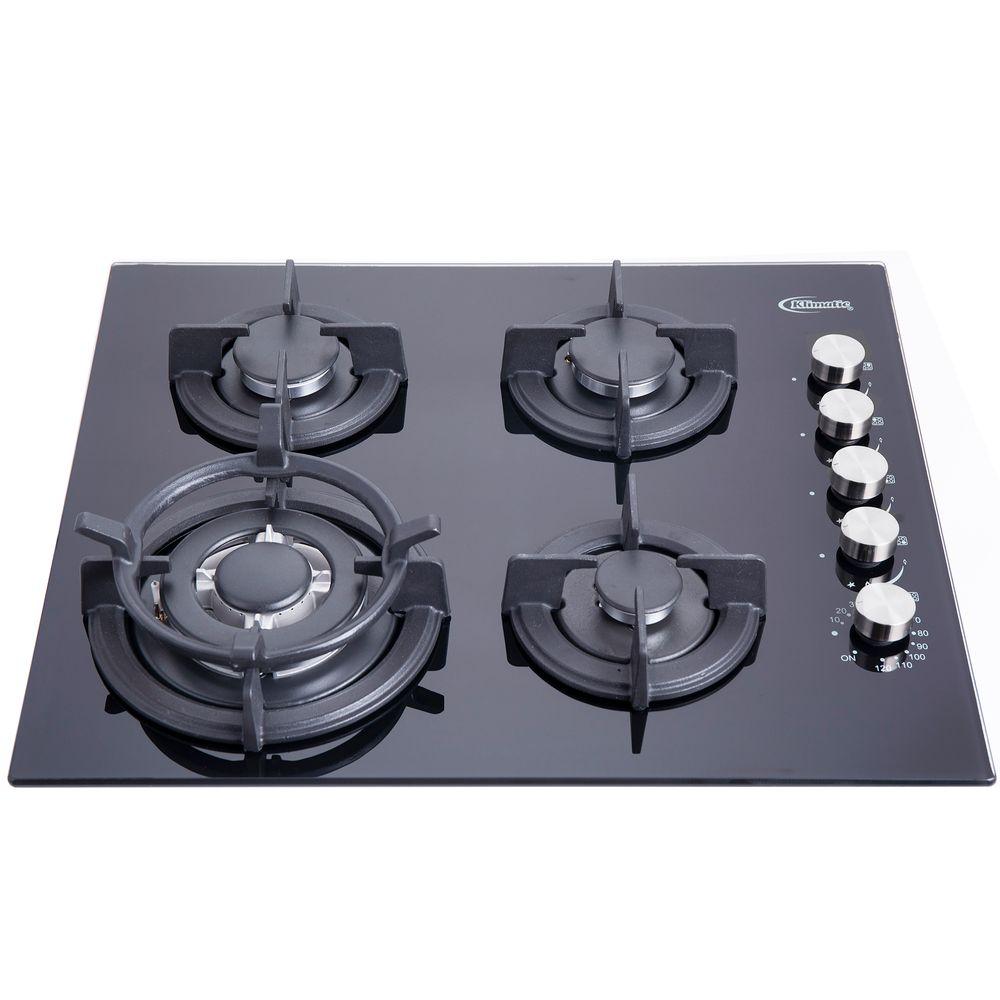 Cocina empotrable NOTTE PLUS Negra 59cm