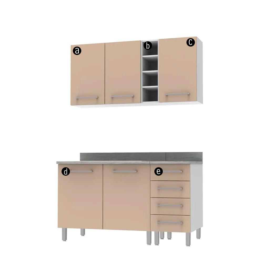 COMBO Muebles de cocina modulares 1.40 metros Mercurio