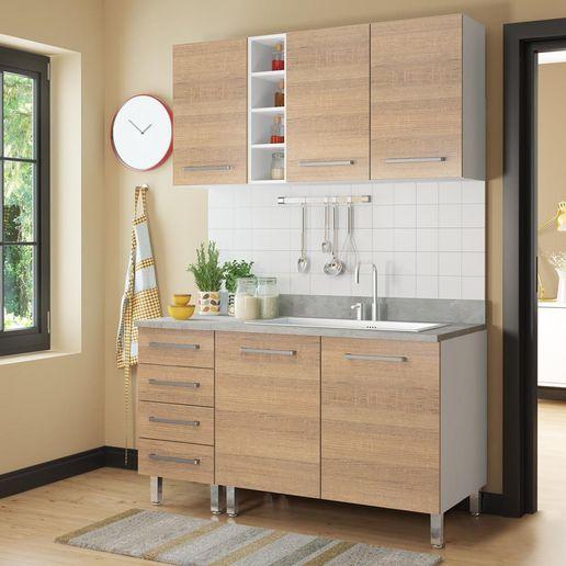 COMBO Muebles de cocina modulares 1.40 metros Avellana - Oechsle
