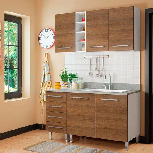 COMBO Muebles de cocina modulares 1.40 metros Nogal - Oechsle