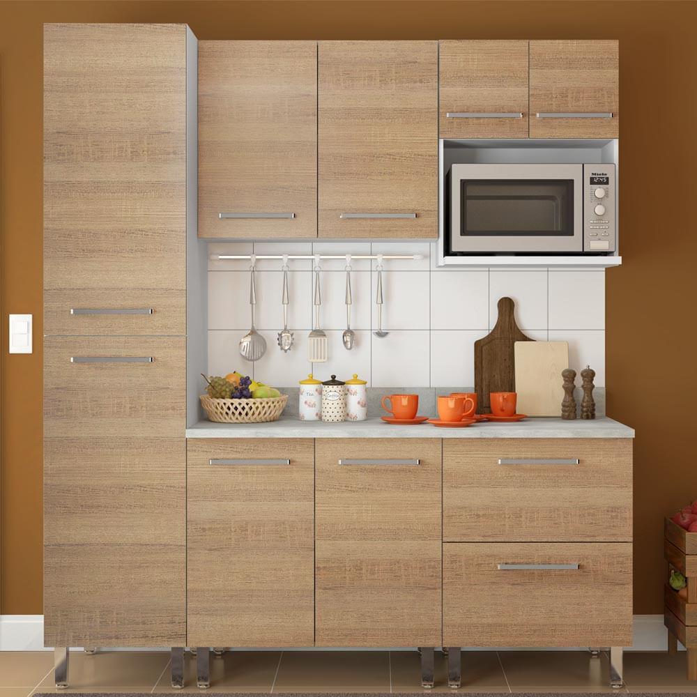 COMBO Muebles de cocina modulares 1.85 metros Avellana