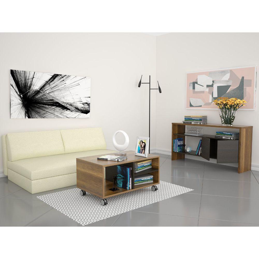 Consola + Mesa de Centro - Caramelo / Wengue