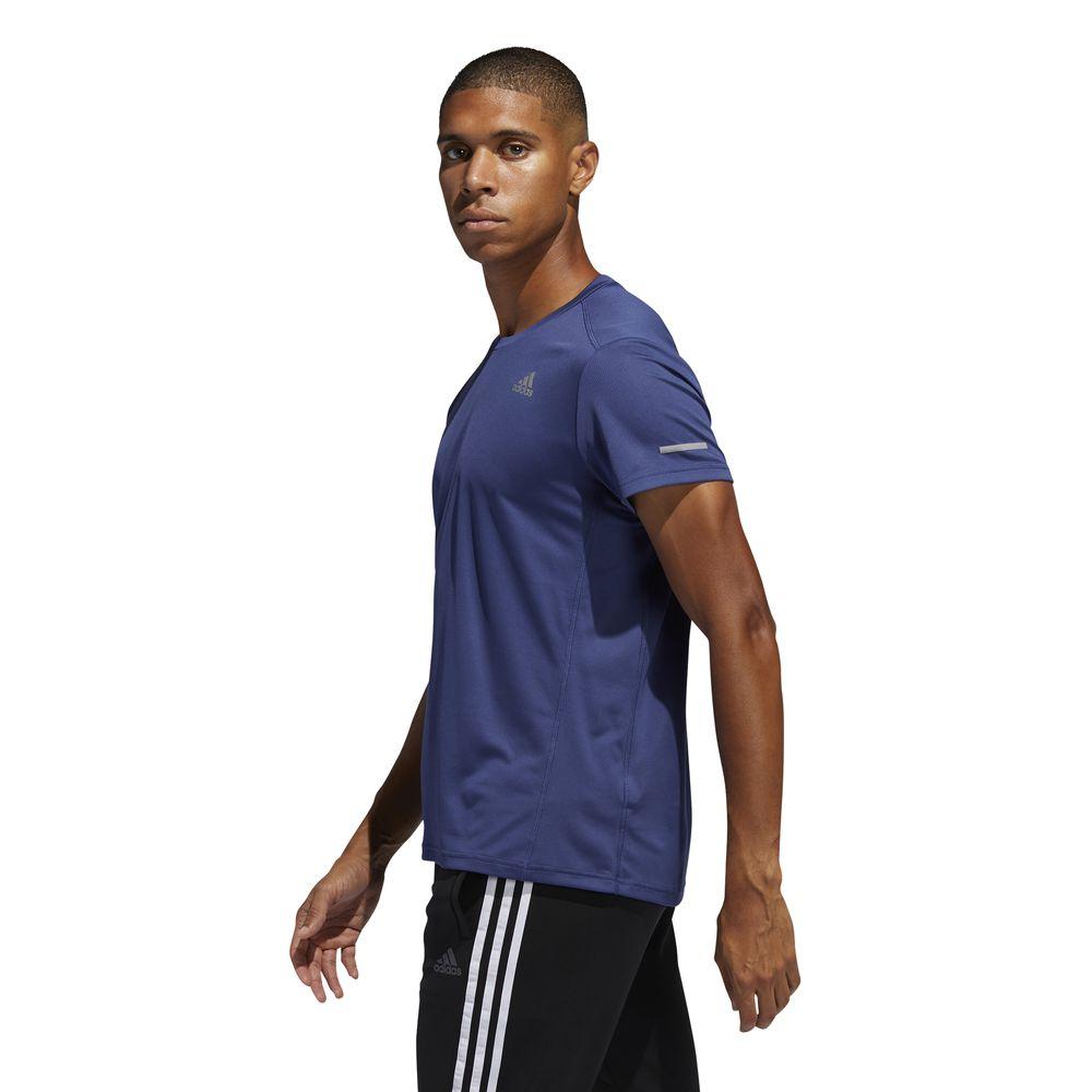 Polo Deportivo Adidas Hombre FK1591 Own The Run Tee Azul