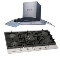 Klimatic-Cocina-Petra-5-Hornillas-Negro---Campana-Venezia-I-Plateado-894858