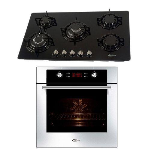 Klimatic-Cocina-Glassy-Plus-5-Hornillas-Negro---Horno-Electrico-Gamma-Plateado-894874