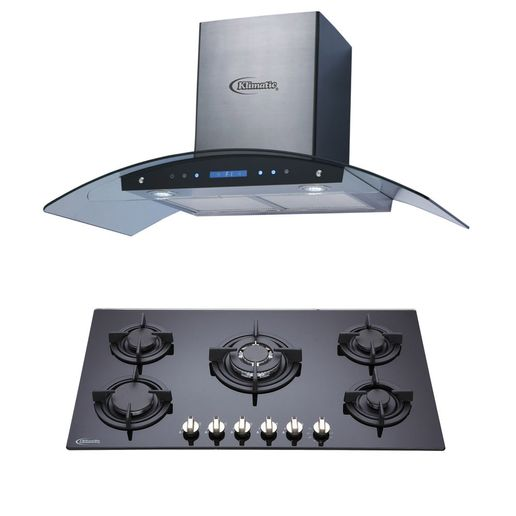 Klimatic-Cocina-Sorbola-5-Hornillas-Negro---Campana-Venezia-I-Plateado-894900
