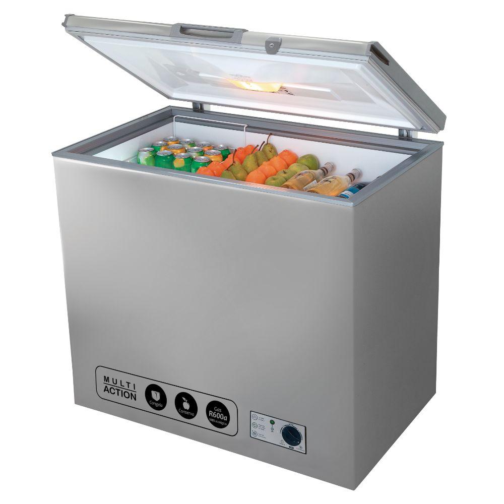 Congelador Coldex CH10 247L Plateado