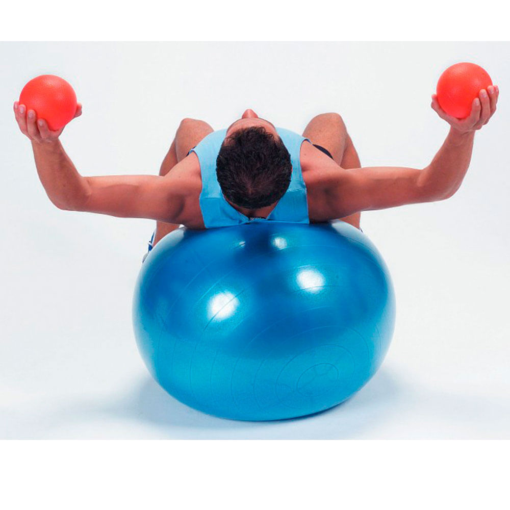 Pelota Pilates Terapeutica Azul Megim Perú + Inflador