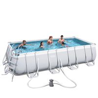 Bestway-Set-de-Piscina-Estructural-Power-Steel-Gris-977300