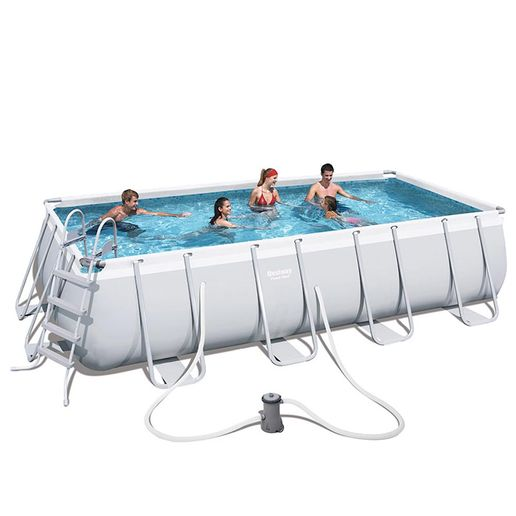 Bestway-Set-de-Piscina-Estructural-Power-Steel-Gris-977301