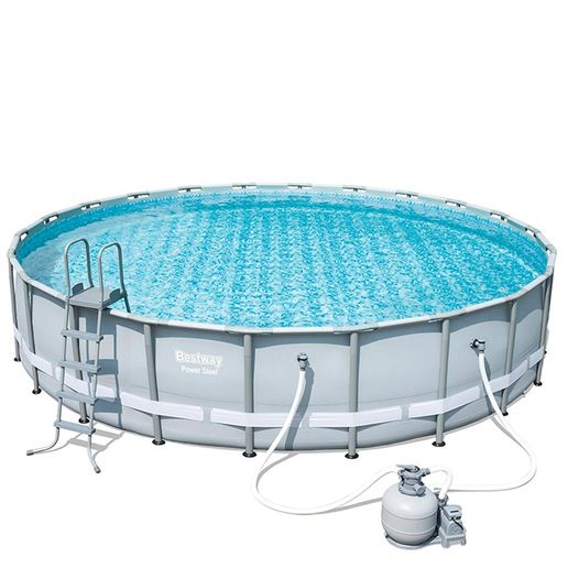 Bestway-Set-de-Piscina-Estructural-Power-Steel-Gris-977304