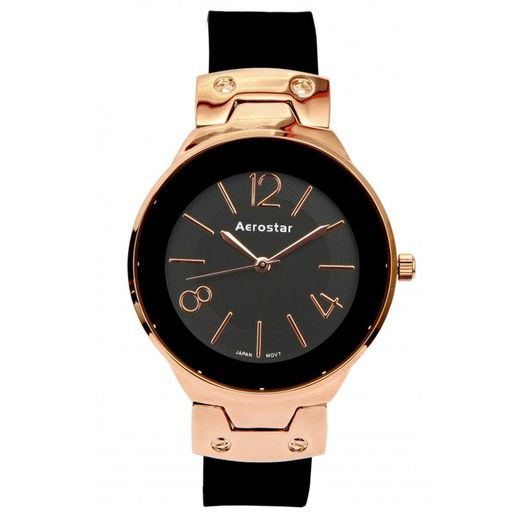 Aerostar-Reloj-66331-Mujer-Dorado-Negro
