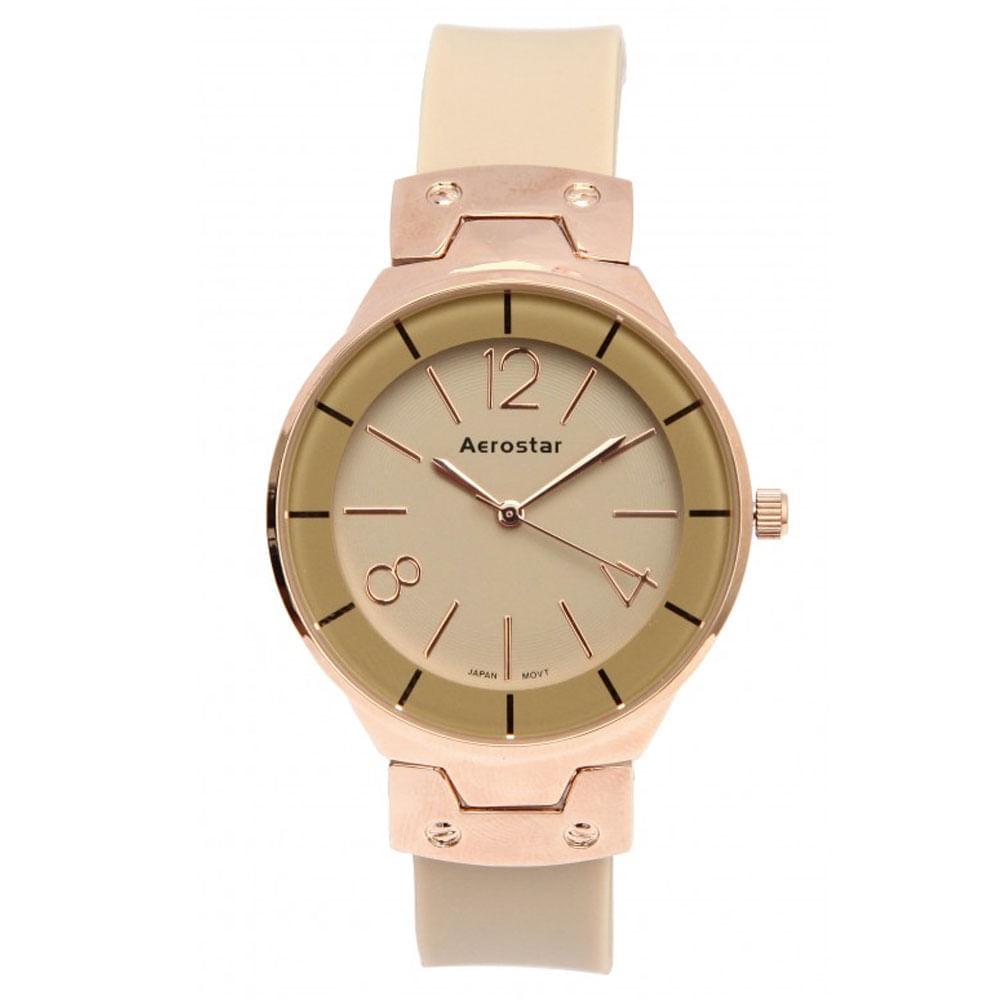 Aerostar-Reloj-66333-Mujer-Dorado-Crema