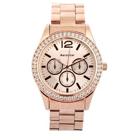 Aerostar-Reloj-63230-Mujer-Oro-Rosa
