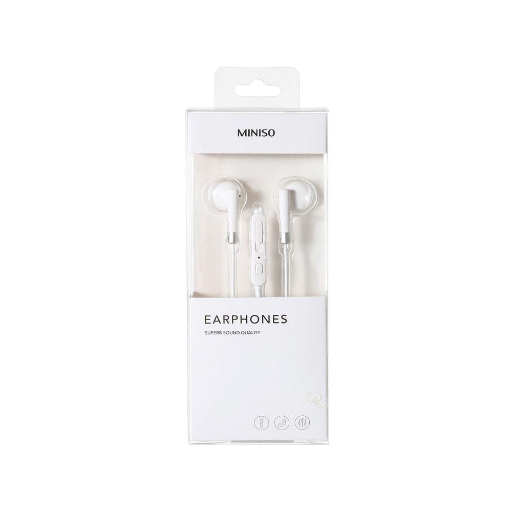 Audífonos Cable Miniso Plateado