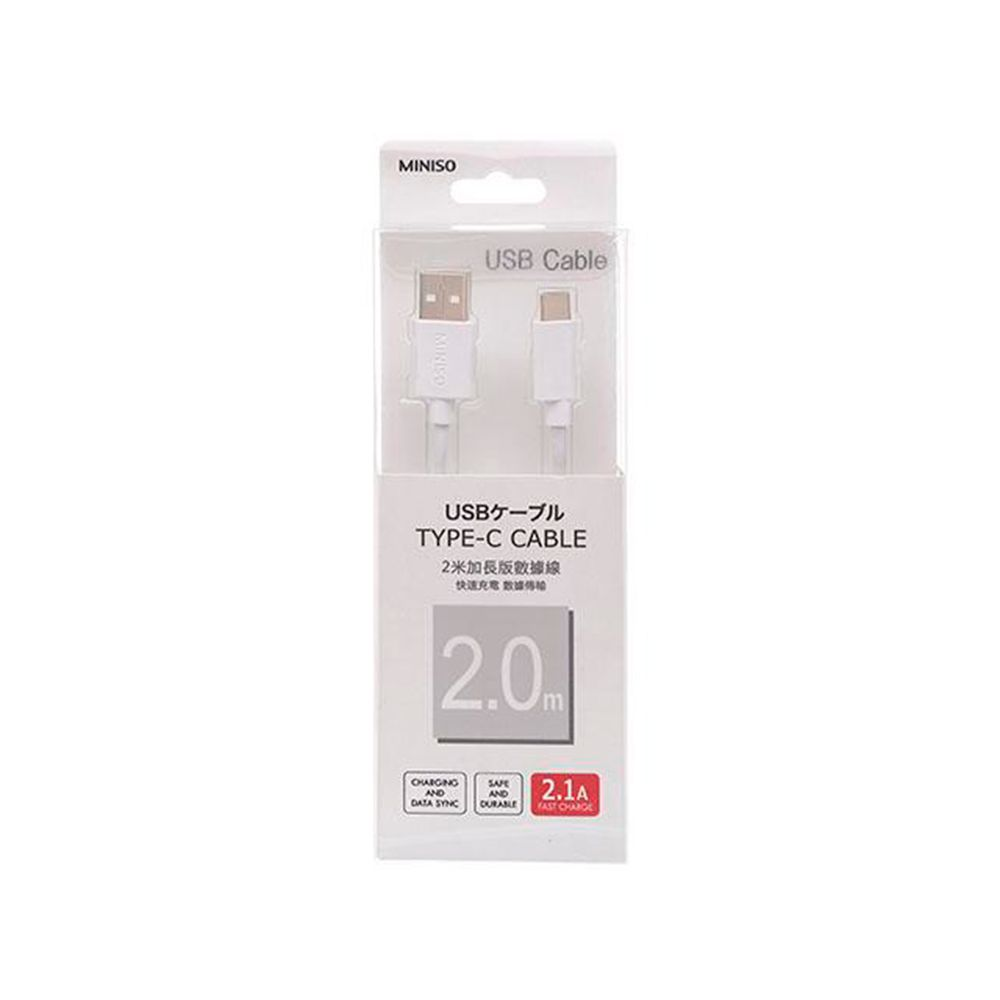 Cable de Carga Tipo C USB Miniso Blanco
